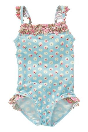 ***Blue Ditsy Swimsuit