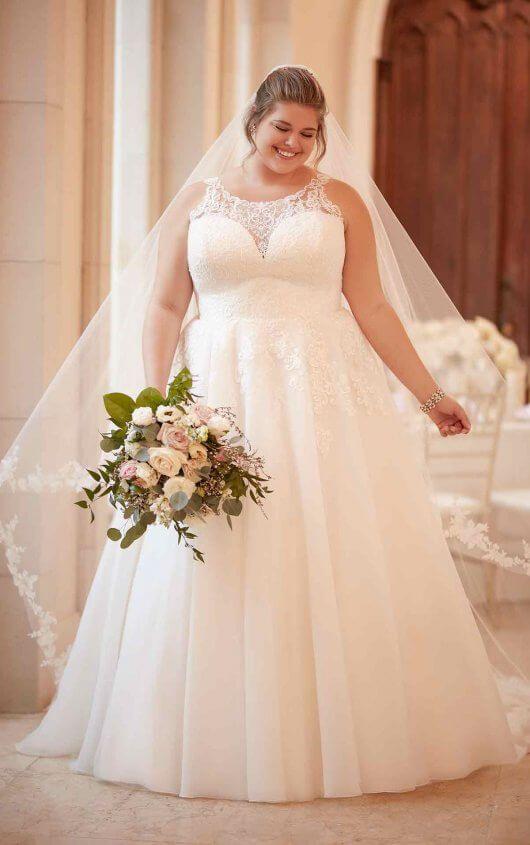 Affordable Classic Plus Size Wedding Dress