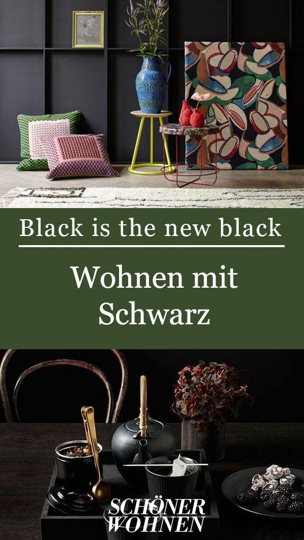 Zeitlos Schwarz Auf Dem Tisch Bild 3 Wohnen Gestalten Schoner Wohnen
