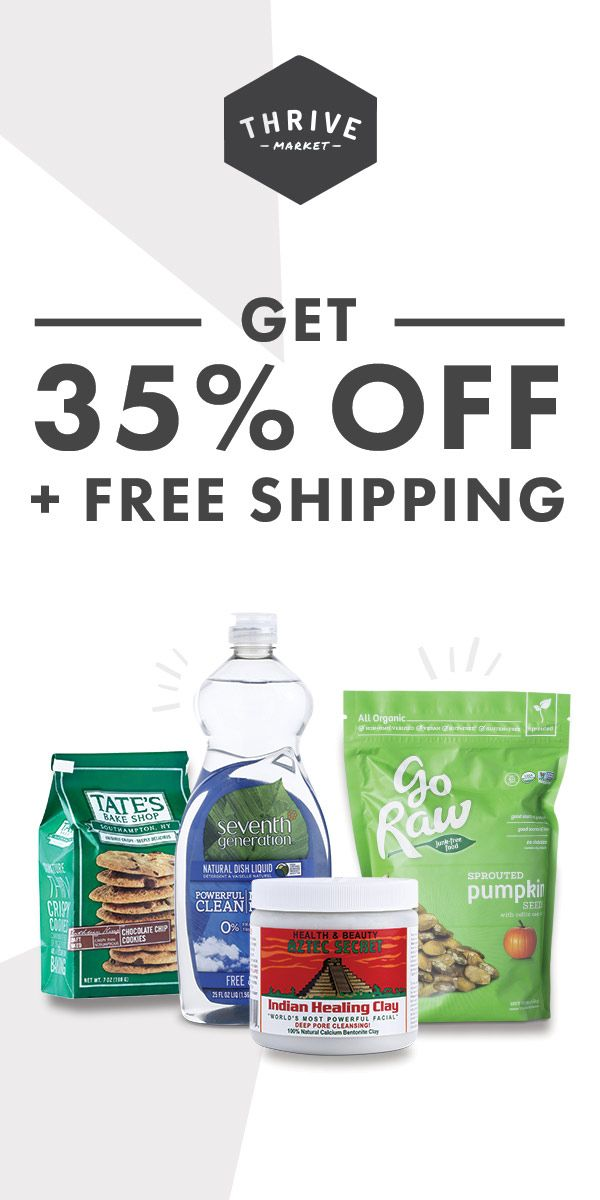 Thrive Market sells the healthiest products at a discount. Think Costco meets Whole Foods online! Try today and get 35% OFF your first order.