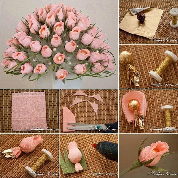 DIY Make Chocolate Flower Bouquet