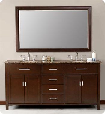 Photo Gallery Website Home ue BATHROOM VANITIES ue Palermo Double Sink Modern Bathroom Vanity