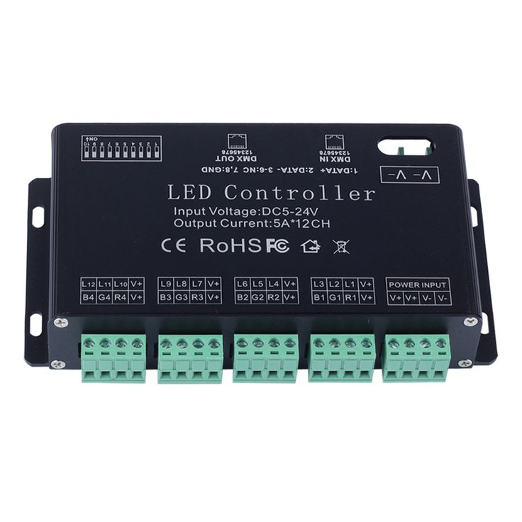 12 Channel RGB DMX 512 LED Controller Decoder Dimmer Driver For LED Strip Module Light DC5V-24V