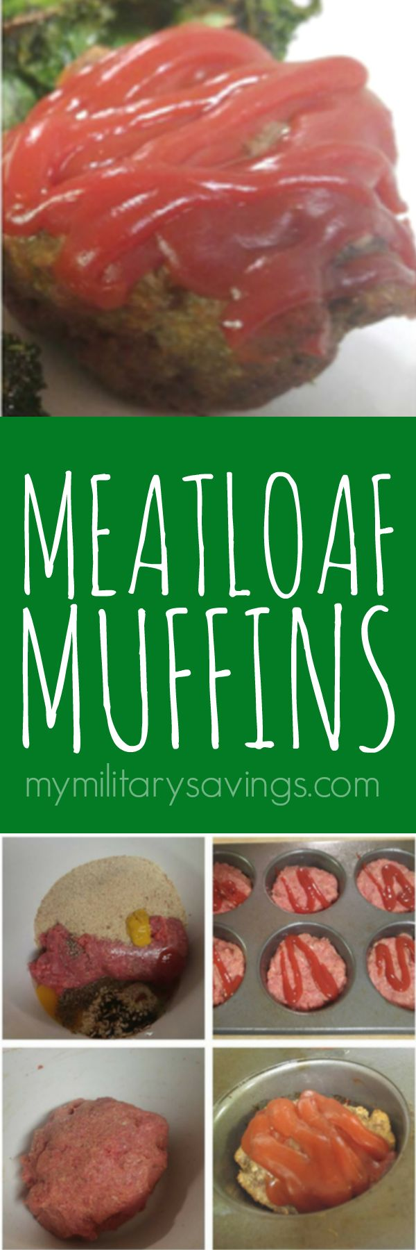 Make these easy meatloaf muffins for for dinner on those crazy school and work days!