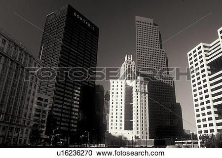 atlanta, ga, géorgie, en ville, horizon, depuis, parc aspérule, noir, &white Voir Image Grand Format