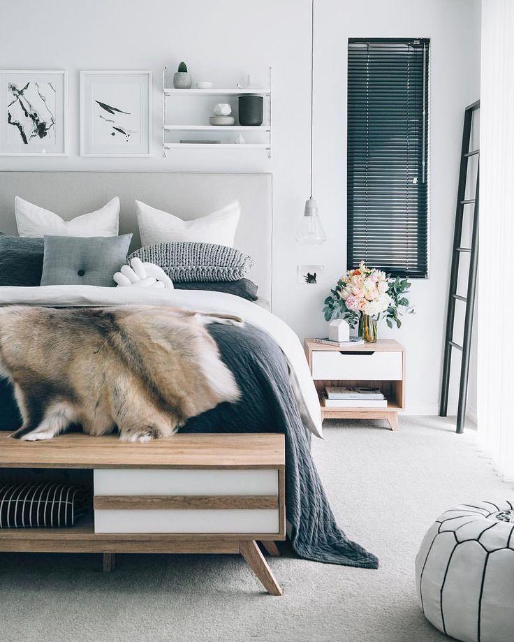 The beautiful Scandinavian inspired bedroom of Tarina Lyell from Oh Eight Oh Nine