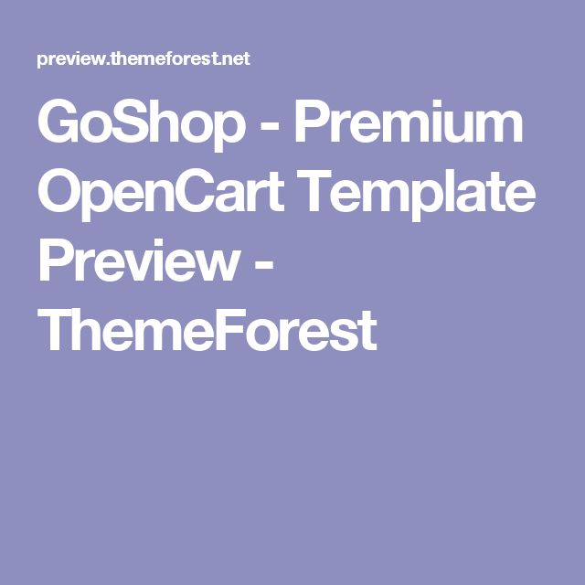 GoShop - Premium OpenCart Template Preview - ThemeForest