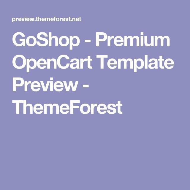 GoShop - Premium OpenCart Template Preview - ThemeForest