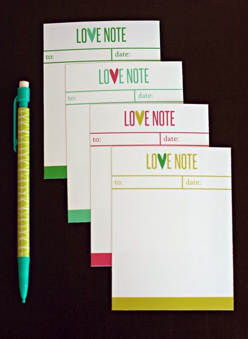 Free Printable Valentine's Day Love Notes