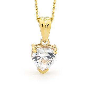Buy our Australian made Heart Shape Cubic Zirconia Pendant - E31 - BEE-64665-CZ online. Explore our range of custom made chain jewellery, rings, pendants, earrings and charms.