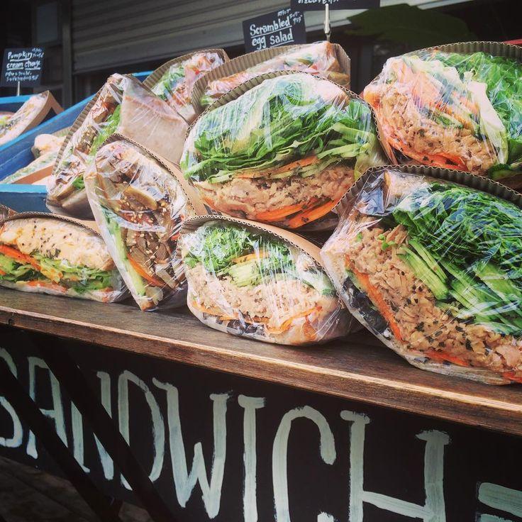 渋谷「ポタスタ」の欲ばりサンドイッチ。たっぷり野菜で栄養チャージ! - macaroni