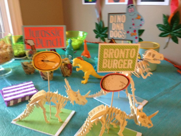 Jurassic park food signs