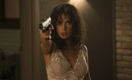 First Look at Salma Hayek in the Action Thriller Everly - A down-on-her-luck woman is forced to fend off waves of assassins sent by her ex, a dangerous mob boss. Joe Lynch directs.