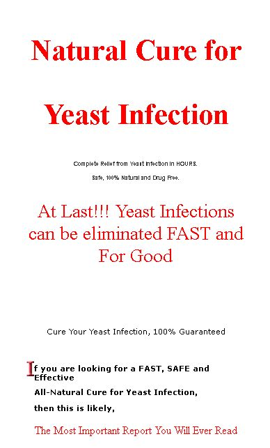 Getting Rid Of A Male Yeast Infection Naturally