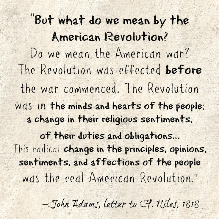 a personal opinion about the american revolution Revolution is a frightening word for most americans, but the second and the last american revolutions indicate that weapons are not required, blood need not spill minds need to change republic, lost this revolution has already begun for many, not most, people the next american revolution will not be a solitary journey far from it.