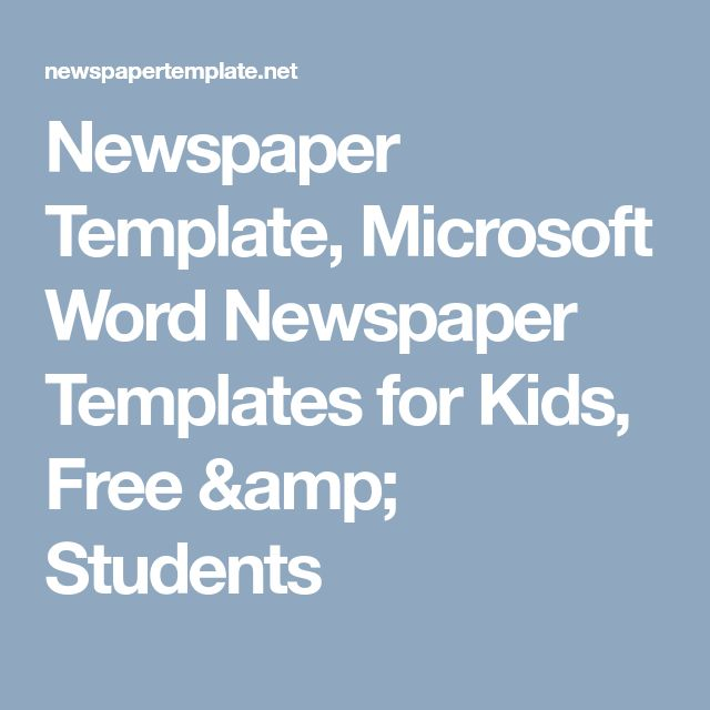 newspaper template microsoft word newspaper templates for kids free students grade 5 la pinterest language arts language and student