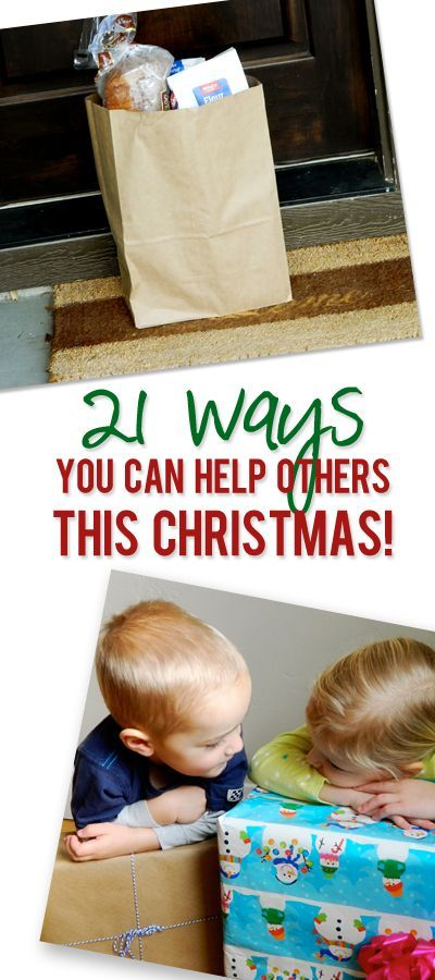 21 ways you can help others this Christmas pinterest image