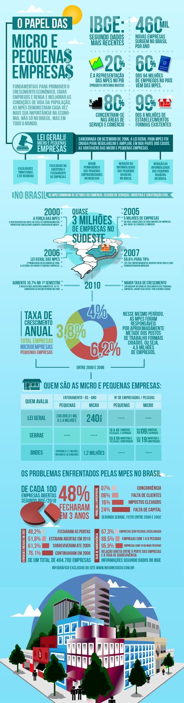 Micro e Pequenas Empresas Brasileiras - http://www.novonegocio.com.br - Novo Negócio