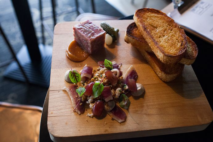 House Charcuterie for Two (Parfait, Terrine, Duck Ham). Fortunate Son #Newcastle