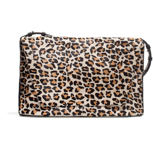 Zara Square Leather Messenger Bag ($100) ❤ liked on Polyvore