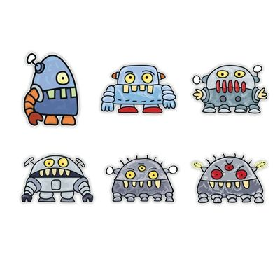 Doodle Jump Wall Graphics from Walls 360: Special Set: Robot Monsters I  doodle for embroidery