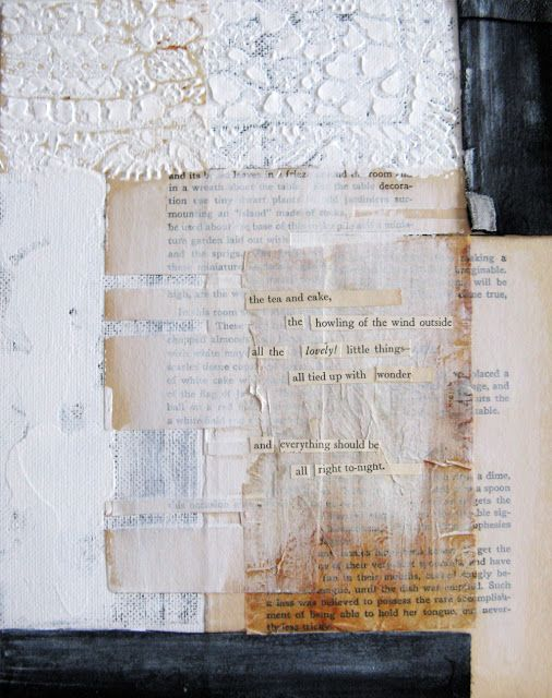 'little things' - daily poetry | Anca Gray mixed media collage with text