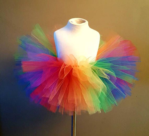 TUTU MANY COLOURS ANY SIZE NEON CHILD ADULT PINK YELLOW ORANGE GREEN BLUE RED