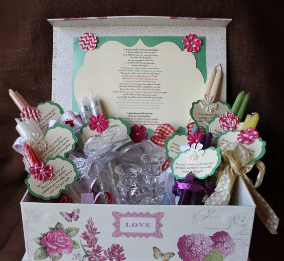 20 Creative Must See Wedding Ideas For Kids: Wedding Shower Candle Poem Gift Set. Bridal By