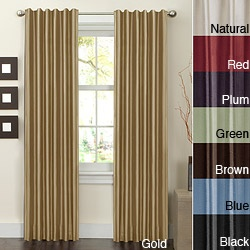 An option.  @Overstock - This curtain set includes two elegant faux silk window panels with rod pocket and hidden back tab construction to give you two different looks. These panels are the perfect way to add casual luxury to any room in your home. http://www.overstock.com/Home-Garden/Faux-Silk-Rod-Pocket-Window-Panels-Set-of-2/6085186/product.html?CID=214117 $25.99