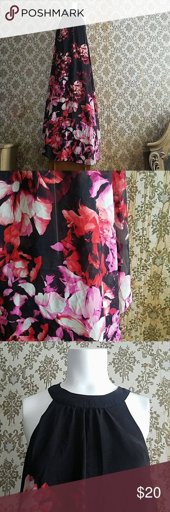 Charlotte Russe Shear Black Pink Floral Dress This is an absolutely gorgeous dress! While the inside Fashions a snug-fitting black under dress the outside Fashions a sheer black pink and red cover. And is absolutely stunning never having been warned before but the tags are not still attached. It is a size medium and while it has been living in my dresser it has never seen the light of day. Thank you for looking and don't forget to check out all the other great items I presently have for sale…