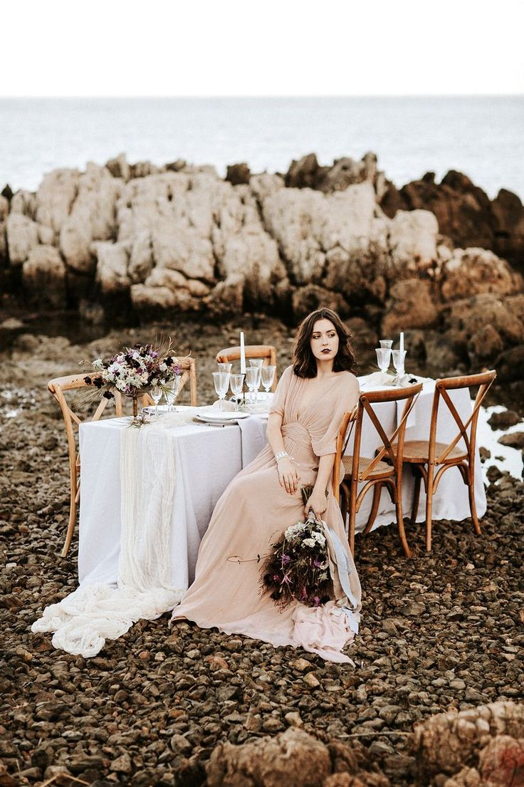 French Seaside Wedding Inspiration - http://ruffledblog.com/french-seaside-wedding-inspiration photo Pinewood Weddings