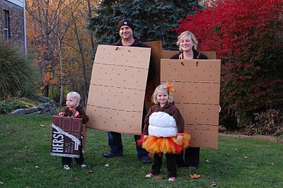 Cool family costumes - smores!!!