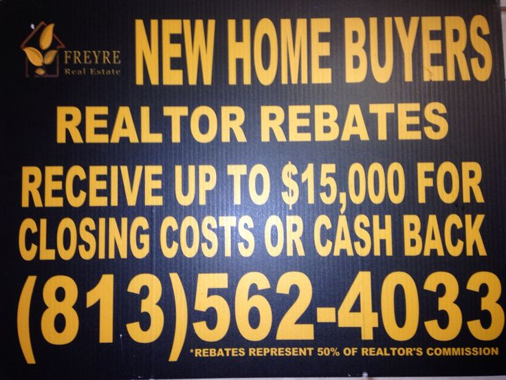 Rebates that you don't have to wait for. Receive the funds on you HUD 1 Settlement Statement at closing!!
