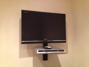 Television Wall Mount With Shelf