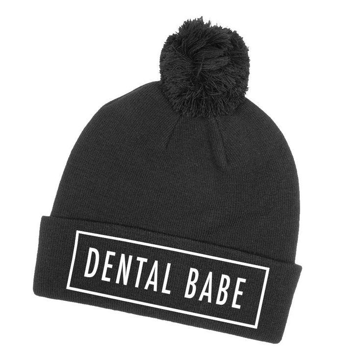 Dental Assistant Duties List%0A Dental Babe Pom Pom Knit Hat