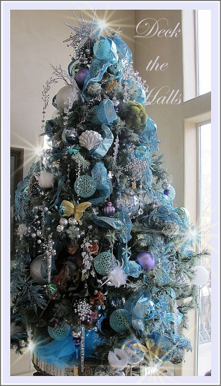 Blue and purple christmas tree decorations - Purple Chocolat Home Icy Aqua Splendor My New Christmas Tree Decor Have Yourself A Blue Christmas This Year Love The Decor Ideas
