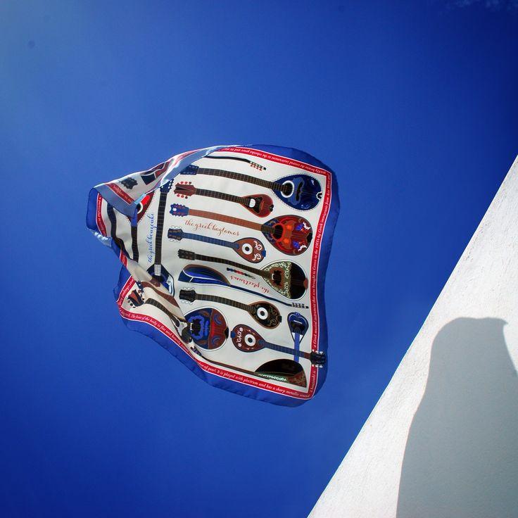 """""""Bouzoukia"""" silk scarf by Grecian Chic"""