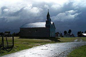 Iglesia en Chiloe, sur de Chile