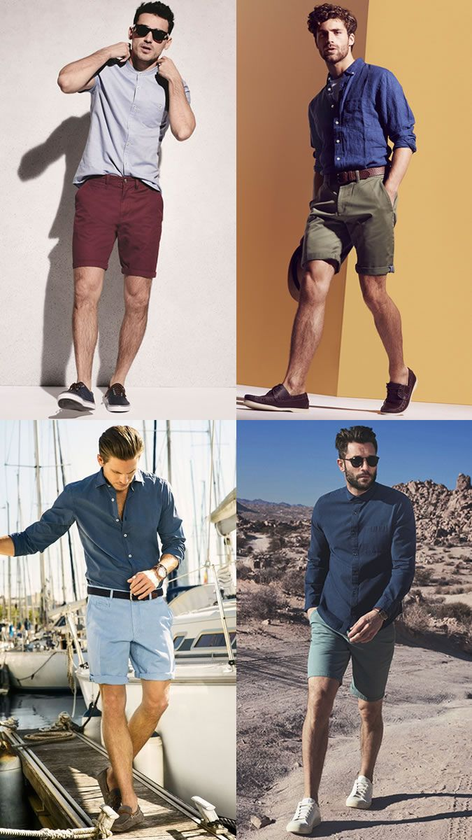 Men's Summer Chino Shorts Fashion/Style Outfit Inspiration Lookbook