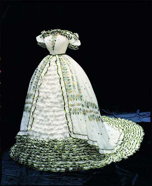 The gown that Empress Elisabeth of Austria-Hungary wore when she was engaged to the Emperor Franz Josef
