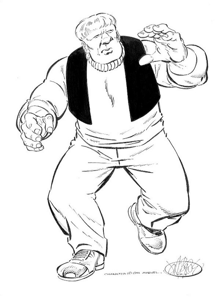 Ox  from the Enforcers commissions by John Byrne. 2011.