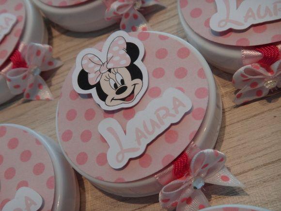 Lata mind to be para enfeitar sua mesa de doces e presentear os convidados! Ideal para lembrancinha!! Veja também outros itens da festa da Minnie... R$ 1,90