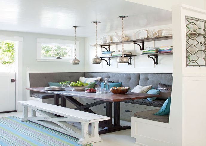 Kitchen Bench Seating Cabinets Kitchen Display Shelves Kitchen Floating Shelves Kitchen Wall Cabinets Fl Dining Room Small Home Kitchens Kitchen Benches