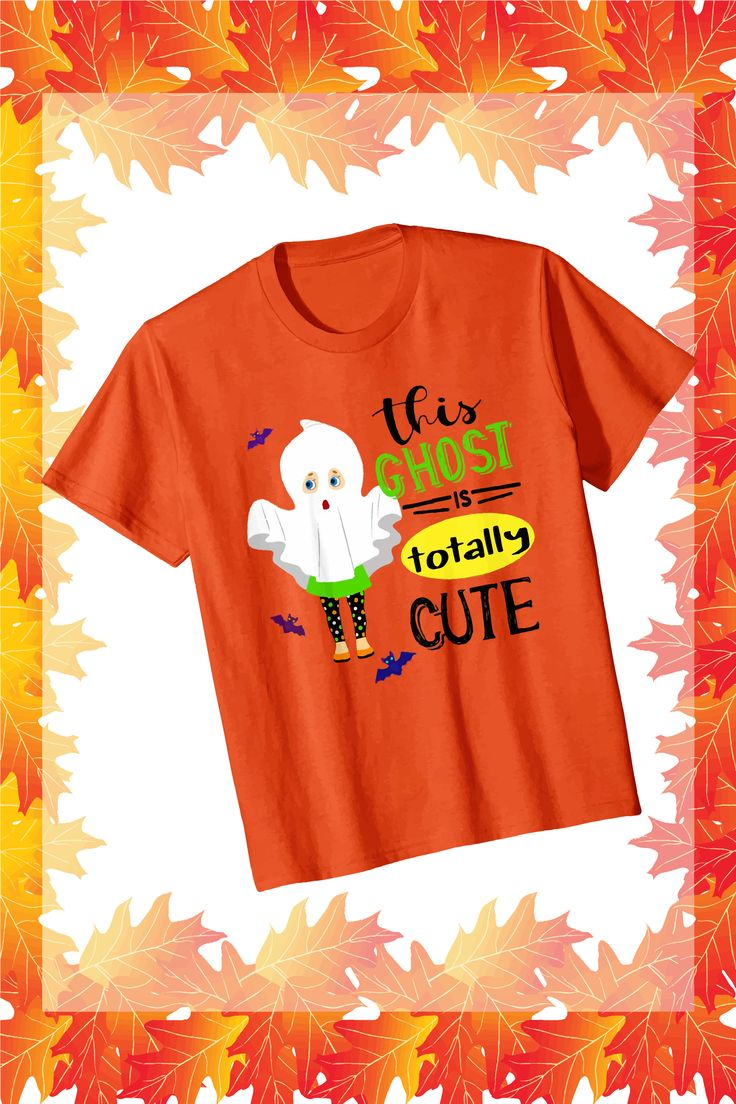 Halloween this ghost is totally cute kids tshirt cute