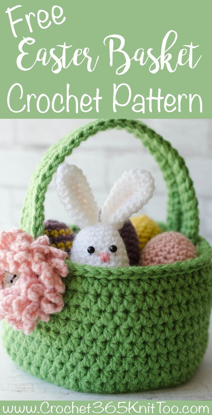 Crochet Easter Basket Pattern. Adorable Easter Egg Basket. Love this!