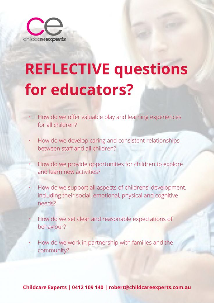 Reflective questions for educators?