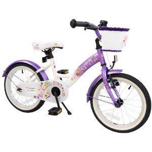 puky kinderfahrrad: bike*star 40.6cm (16 Zoll) Kinder-Fahrrad - Farbe Lila & Weiß Top-Angebote für