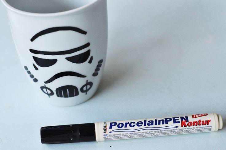 Storm Trooper Mug #diy #porcelainpen