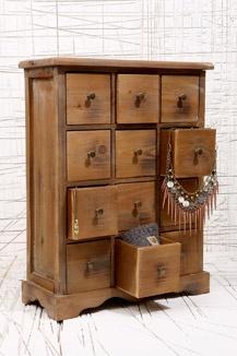 Wooden 12 Drawer Unit