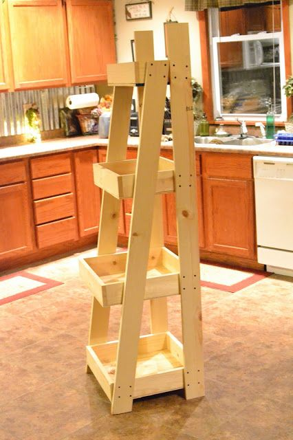 DIY Ladder Towel Storage-can customize to fit under my shelving